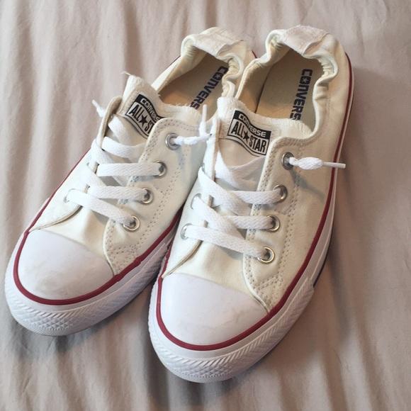Converse Shoes   Womens White Elastic